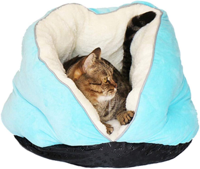 Byx Vtype Entrance Cat Litter Plus Velvet Embring Cat Litter Pet Autumn and Winter Warm Universal Cat Supply /46X41X39cm Pet nest (colore: B)