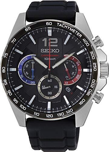 Seiko Herren-Uhr Chronograph mit Silikonarmband SSB347P1