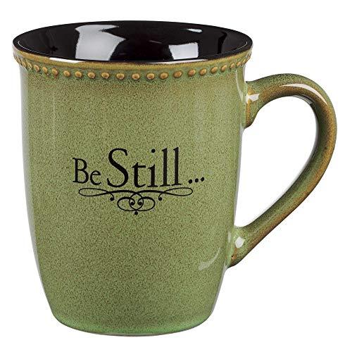 """Sage Green """"Be Still"""" Verse Mug"""