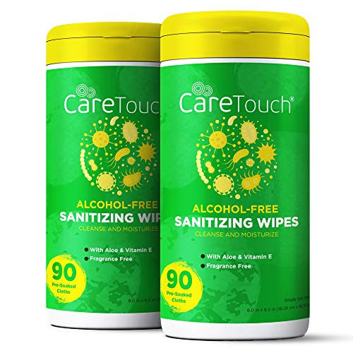 Care Touch Alcohol-Free Hand Sanitizing Wipes - 2 Canisters...
