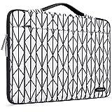 MOSISO Maletín Compatible con 2019 MacBook Pro 16 A2141/15-15.6 MacBook Pro Retina/Surface HP Acer de Portátil, Funda Protectora Bolsa Blanda Totalmente Abierto con Malla Bolsillo, Base Blanco Rombo