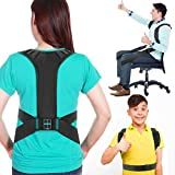 Posture Corrector for Men Women and Kids, Posture Brace with 2 Adjustable Wearing Ways, More Effective Back Brace Posture Corrector for Neck, Back, Waist and Shoulder Pain Relief - Medium Size
