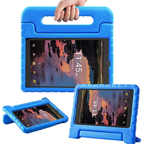 TIRIN Case for Alcatel Joy Tab 8 2019/Alcatel 3T/A30 8 Tablet - Lightweight Shockproof Convertible Handle Stand Kids Case for Alcatel Joy Tab 2019/Alcatel 3T 2018/A30 2017 8-inch Tablet, Blue