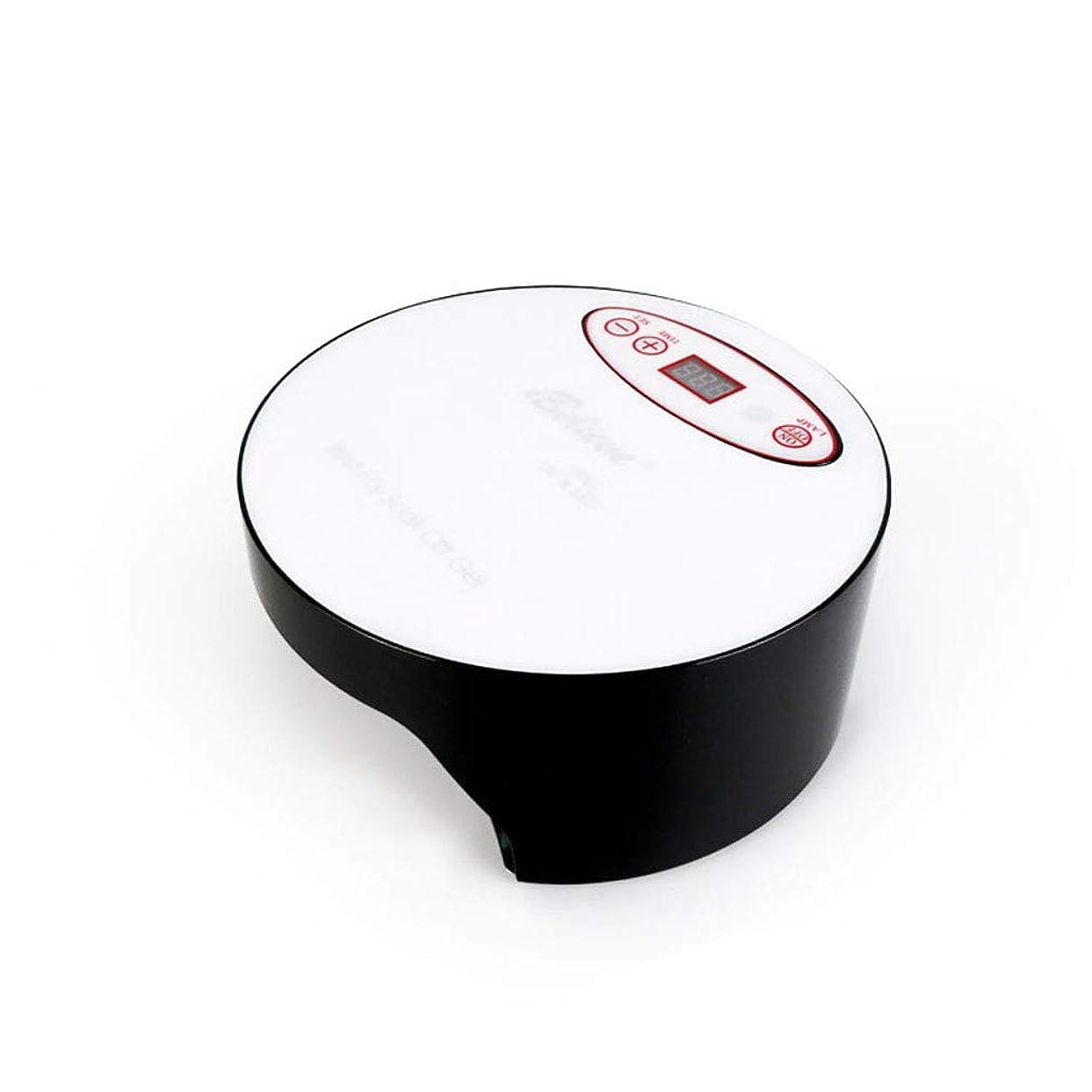 水差し誕生ハプニングネイルドライヤー、タイマー付きネイル用ポータブルLED/UVランプ、赤外線センサー、取り外し可能な磁性プレート、すべてのジェルに適して,Black