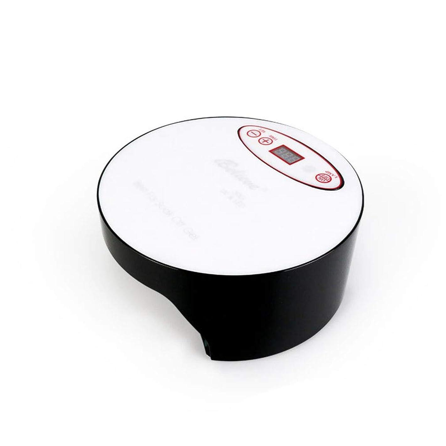 パストレイル落胆させるネイルドライヤー、タイマー付きネイル用ポータブルLED/UVランプ、赤外線センサー、取り外し可能な磁性プレート、すべてのジェルに適して,Black