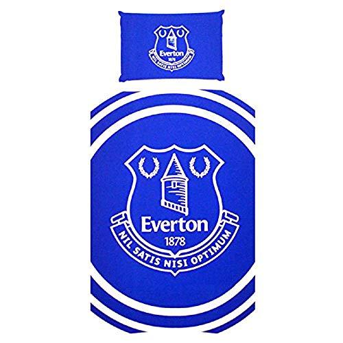 Everton FC Pulse Single Duvet Cover And Pillow Case Set (One Size) (Blue)