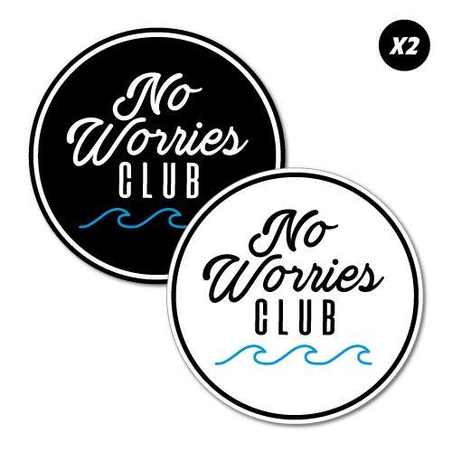 No Worries Club Stickers Decal Surfboard Vintage Skate Surf