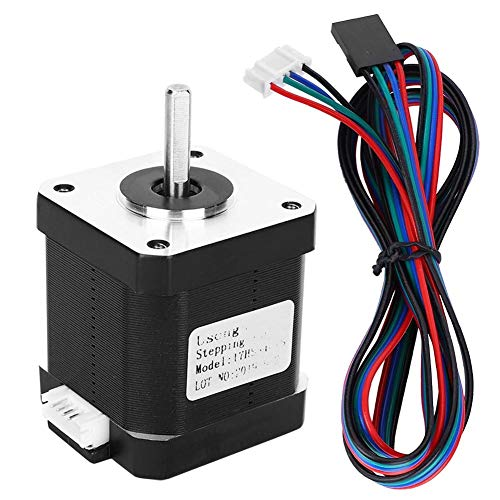 17HS8401S Stepper Motor, Nema 17 Stepper Motor 4-Lead Cable Eletrical Supplies Replacement for 3D Printer