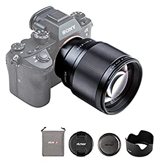 VILTROX 単焦点レンズ EF 85mm F1.8 STM 二代目 瞳AF対応 Sony Eマウント用 フルサイズ対応 Eマウント交換レンズ F1.8大口径 a7C/a7Ⅱ/a7RⅡ/a7Ⅲ/a7RⅢ/a7RⅣ/a9/a6600/a6500/a6400/a6300/a6100/a6000/a5100/a5000などに適用