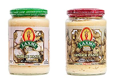 Laxmi Garlic Paste & Ginger Paste 2 Pack 24 Oz Jars from House of Spices