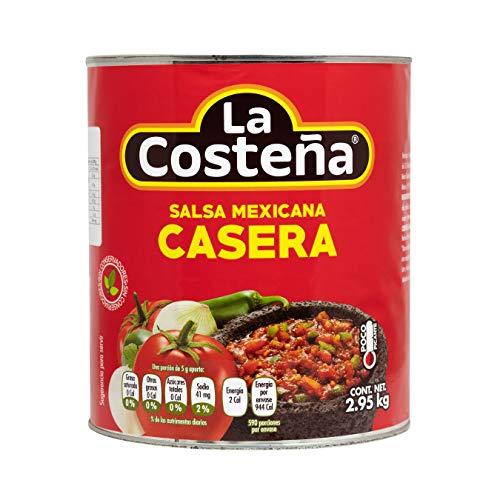 La Costena Salsa Mexicana Casera | 2950ml | typisch Mexikanisch | mittelscharf | Kombination aus Zwiebeln, Chili und Gewürzen | Vielseitig einsetzbar | Hervorragender Geschmack