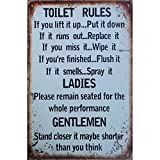 metal tin sign Toilet Rules Warning Sign Bar Cafe Garage Wall Decor Retro Vintage 7.87 X 11.8 inch