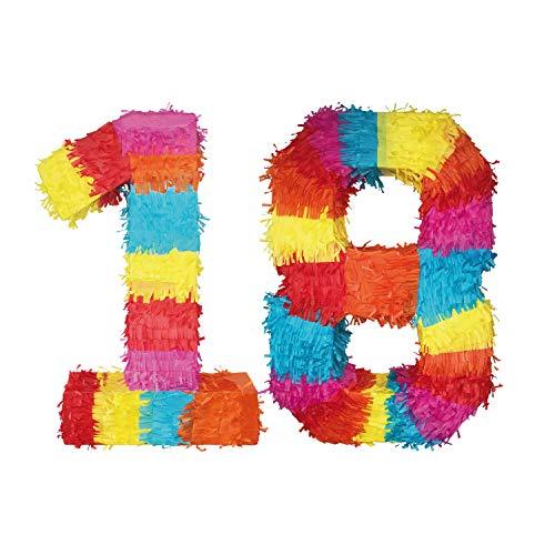 Party Factory Pinata Zahlen Sets Kinder Geburtstag Schlag-Pinata 50 x 35 x 8cm Dekoration Geburtstagsdeko (18)