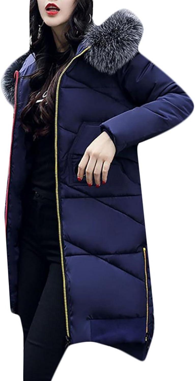CBTLVSN Women Casual Slim Hooded Down Padded Long Winter Warm Parka Coat