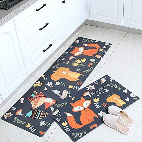 WJQQ Küche Anti Ermüdungsmatte, Kompakte Küchenteppich mit ergonomischem Druck, Ideal als Schreibtisch Matte, Bürostuhl Matte oder StehmatteH