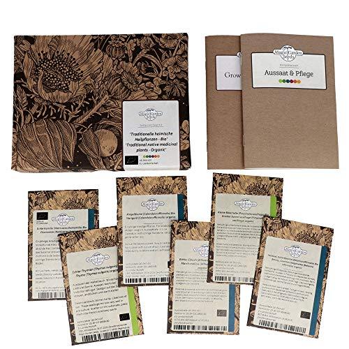 Traditionelle heimische Heilpflanzen (Bio) - Samen-Geschenkset mit 5 europäischen, alten Heilkräutern für den Arzneigarten