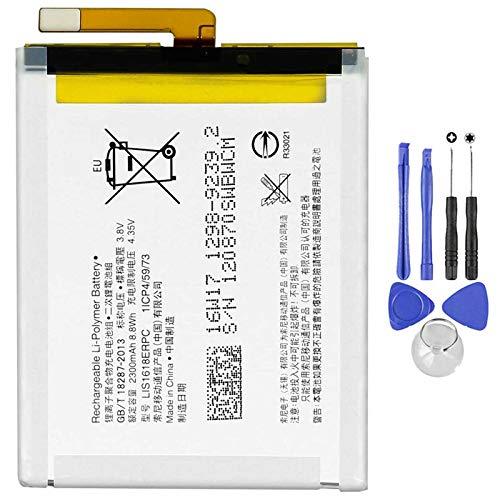 Ellenne Batterie compatible avec Sony Xperia E5 LIS1618ERPC haute capacité 2300 mAh 1298-9240 avec kit de démontage inclus
