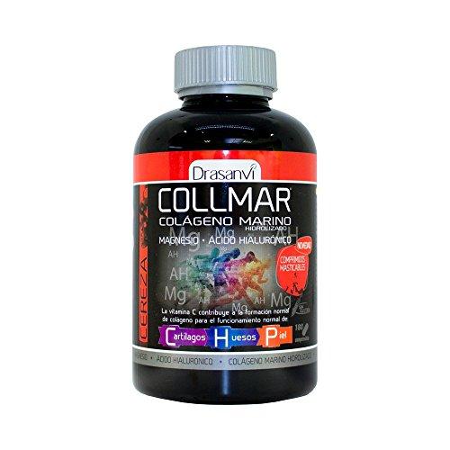 Collmar comprimidos masticables colágeno marino hidrolizado sabor CEREZA