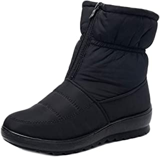 Fulision Female Winter Soft Wear Resistant Thicken Rubber Sole Snow Boots