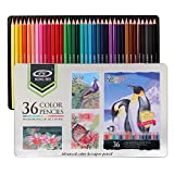 Drawing coloured pencils & Art colouring pencil set,For Adults and Kids Beginners & Artists colour pencils in tin Box. (36-Color)
