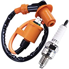 100%Brand New High Performance Racing Ignition Coil + Spark Plug Ignition coil Fits most of Chinese Made Scooters and ATV, Such as Kymco JONWAY, JMSTAR, ROKETA, SUNL, TANK, PEACE, TAOTAO, Dongfang, Kazuma, JCL, BMS. Racing Ignition coil Fits Chinese ...