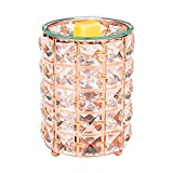 SUNPIN Crystal Candle Wax Warmer,Electric Fragrance Oil Warmer for Warming Scented Candles,Decor for Home Office Bedroom(Rose Gold)