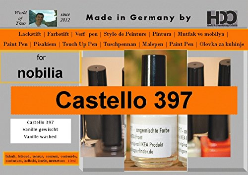 HDO Farbstift Lackstift Touch-up-Pen for Nobilia Castello 397 Vanille gewischt