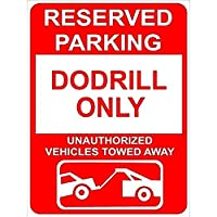 アルミメタルノベルティ危険サイン、ドドリル予約駐車場専用サイン、駐車場デコレーションブリキサイネージボックス取り付けが簡単な事前に開けられた穴