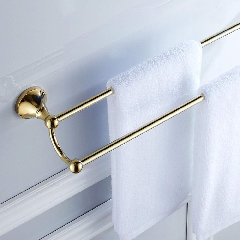 YJRIC Luxury goods Bathroom Shelf Max 65% OFF Copper Rac Towel Gold Double