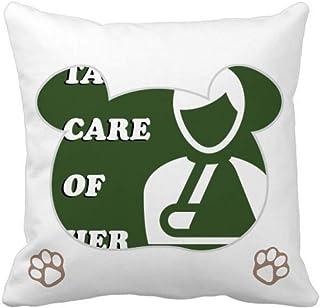 OFFbb-USA Care Men - Funda cuadrada para almohada