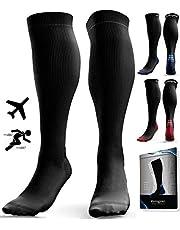 Compression Socks for Men & Women (20-30 mmHg) - Anti DVT Stockings - Swollen Legs - Varicose Veins - Edema - Running - Sports - Nurses - Shin Splints Calf Pressure Support - Pregnancy - Blood Circulation - Flight Travel