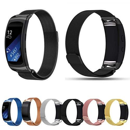 Pulseira Aço Inoxidável Milanese Loop para Samsung Gear Fit 2 Pro - Marca Ltimports (Preto)