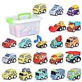 FORMIZON 20 PCS Vehicules de Chantier, Petite Voiture Miniatures, Jouets Voiture Friction Camion Véhicules de Construction pour Enfants Garçon Fille Cadeau