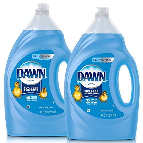 Dawn Ultra Dishwashing Liquid Dish Soap, Refill Size, original scent 112 Fl Oz (Pack of 2)