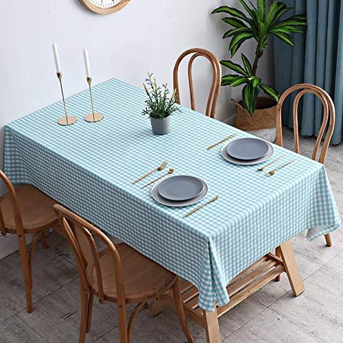 KUATAO JDHANNE Color Sólido Mantel Barban Mantel Permiso de Agua a Prueba de Agua y antiacero Libre de Alimentos Mantel PVC Mantel