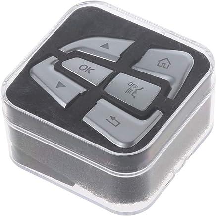 CADANIA 12 Piezas/Juego Cubierta de la Etiqueta engomada del botón del Volante para Mercedes