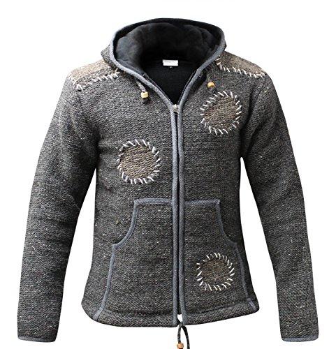 Chaqueta para hombre Fashion Shopoholic circunscripción opusiese Hippie capucha de lana