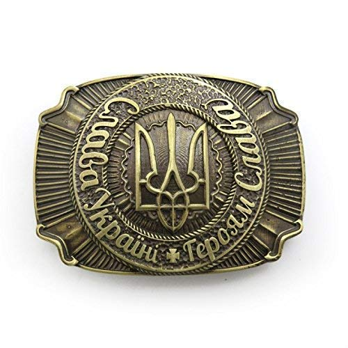 Handmade solid brass belt buckle with Ranking TOP2 Ukrainian High order to trident