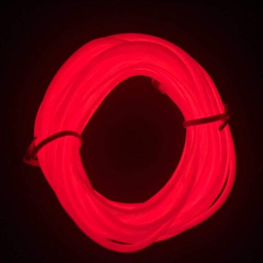 M.best 有機 ELワイヤーネオン 電池式 EL直径2.3mm 長さ3m トランスフォーマー付きELワイヤー 衣装 パーティー LED ライト 自転車 ライト 点灯?点滅機能 (レッド)