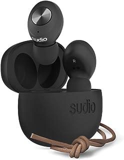 Sudio 00150048 Tolv True Wireless Earphones, Black,Small