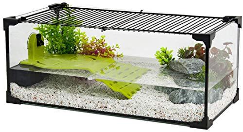 Zolux Aquarium Tortue-AQUATERRARIUM pour Tortue d'eau 50 CM