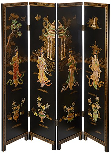 Read About Oriental Furniture 6 ft. Tall Dancing Ladies Screen