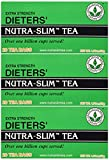 Triple Leaves Extra Strength Dieters Nutra Slim Tea, 20 Bags (3 Pack) - Herbal Cleanse Tea for Detox