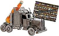 """Porte-bouteille BRUBAKER pour la présentation de vos meilleures bouteilles de bière ou jolie sculpture en métal décorative (modèle: 'Camion Truck') Une drôle idée cadeau pour un amateur de bière Avec carte de vœux """"In Cervesio Felicitas"""" Hauteur: 20 ..."""
