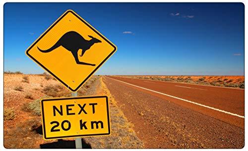 Australien Wüste Schild Kangaroo Wandtattoo Wandsticker Wandaufkleber R1689 Größe 40 cm x 60 cm
