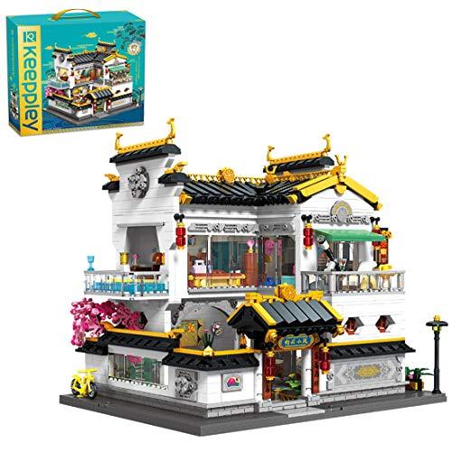 Myste Modular Haus Bausteine, 3000+Klemmbausteine Haus 2-Schichten Wunderschöne Villa mit Luxuriösen LED-Lichtern Modular Gebäude, Architektur Modell Haus Kompatibel mit Lego