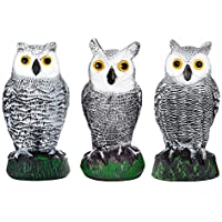 3-Set Bird Blinder Scarecrow Fake Owl Decoys