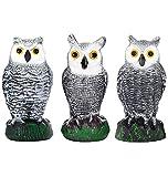 Bird Blinder Scarecrow Fake Owl Decoys - Repellent Garden Protectors – (Small) (Set of 3)