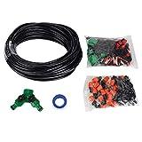 Zerone Kit de riego por goteo, kit de atomización automática Juego de boquillas de rociadores de nebulización por goteo Set de riego para jardines