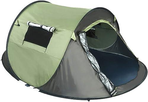 LUHUIYUAN Tente de Camping Tente de Camping en Plein air Construire Libre Tente Ouverte Rapide écran Solaire étanche Tente Militaire Vert Bateau